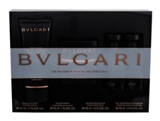 Bvlgari Man In Black  Woda perfumowana 30 ml + Balsam po goleniu 40 ml + Żel pod prysznic 40 ml + Krem do golenia 50 ml