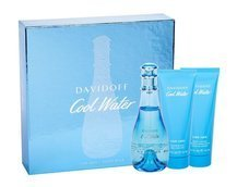 Davidoff Cool Water Woda toaletowa 100 ml + Balsam 75 ml + Żel pod prysznic 75 ml