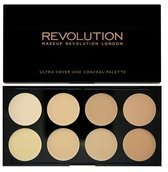 MAKEUP REVOLUTION_Ultra Professional Cover & Concealer Palette paleta korektorów Light 10g