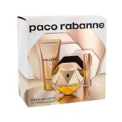 Paco Rabanne Lady Million  Woda perfumowana 80 ml + Mleczko do ciała 75 ml + Edp 10 ml