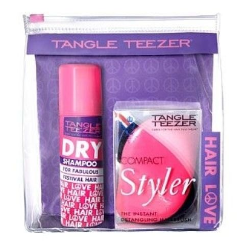 Tangle Teezer Compact Styler Happy Holiday + Suchy Szampon 50 ml